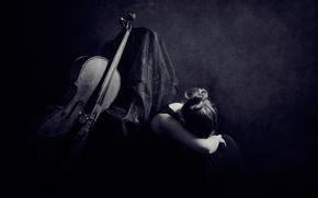 Музыка: виолончель, девушка