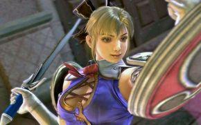 ����: SoulCalibur_IV, Multi_ed, Cassandra, fighting, girl, uniform