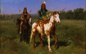 ������: ���, �������, �������, ������, Rosa Bonheur, Mounted Indians Carrying Spears