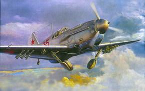 Авиация: арт, Самолет, СССР, ЛаГГ-3, ВОВ