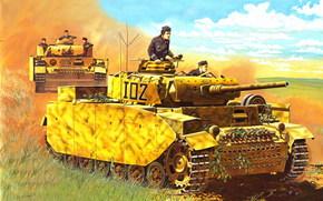 Оружие: арт, Танки, Германия, Вермахт, ВОВ, Panzerkampfwagen IV, PzKpfw IV