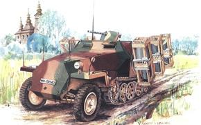 Оружие: арт, Бронетранспортер, Германия, Вермахт, SdKfz 251, Sonderkraftfahrzeug 251