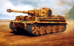 Оружие: арт, Танк, Тигр, Tiger, Германия, Вермахт, Немецкий, ВОВ