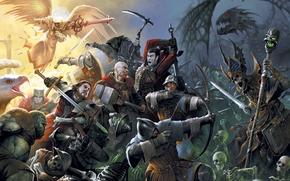 ����: Might & Magic Heroes 7, wars, swords, angel, bird
