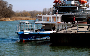 Корабли: Причал, река, корабль.