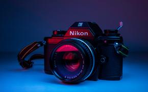 Hi-tech: nikon, фотоаппарат, фон