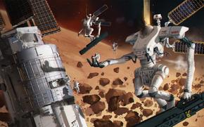 Hi-tech: albert urmanov, NASA, Mech 32, art, moon