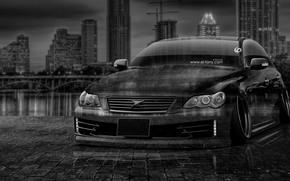 ������: Tony Kokhan, Toyota, Mark, X, JDM, Tuning, Crystal, City, Car, Night, el Tony Cars, Photoshop, Black, White, HD Wallpapers, Silver, Gray, ���� �����, �������, ������, ����, ���, �������, ����, ����������, ������, ����������, ���