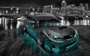 ������: Tony Kokhan, Subaru, Impreza, WRX, STI, JDM, Tuning, Crystal, Car, City, Night, Azure, Neon, Style, el Tony Cars, Photoshop, HD Wallpapers, ���� �����, �������, ������, �������, ���, ����������, ������, ����, �������, ������, ��