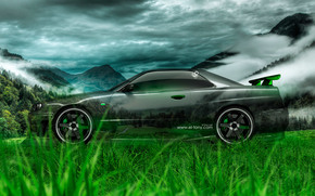 ������: Tony Kokhan, Nissan, Skyline, GTR, R34, Side, Crystal, Car, Nature, Green, Grass, el Tony Cars, Photoshop, HD Wallpapers, ���� �����, �������, �����, ����������, ������, ������, ��������, ���, �34, ��� �����, �������, �������, ��