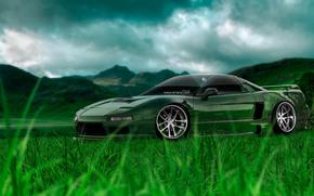 ������: Tony Kokhan, NSX, JDM, Crystal, Nature, Car, Green, Grass, el Tony Cars, Photoshop, HD Wallpapers, Art, Design, ���� �����, �������, �����, ����������, ������, ����������, ����, �������, �����, �������, ���, ����, 2014
