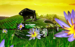 ������: Tony Kokhan, Lexus, LS460, Crystal, Nature, Style, Green, Grass, Flowers, Open, Fantasy, Photoshop, el Tony Cars, ���� �����, �������, �����, ������, ����������, ����������, �������, �����, �������, �����, ����