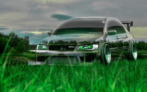 ������: Tony Kokhan, Mitsubishi, Lancer, Evolution, Crystal, Nature, Green, Grass, JDM, Tuning, el Tony Cars, Photoshop, HD Wallpapers, Art, Design, ���� �����, �������, ���������, ������, �������, ����������, ������, ����������, ����, ���