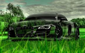 ������: Tony Kokhan, Audi, R8, Crystal, Nature, Green, Grass, Car, el Tony Cars, Photoshop, HD Wallpapers, Design, Art, ���� �����, �������, �����, ����, �8, ����������, ������, ����������, ����, ����, ���, �������, �������, �����, 2014