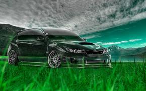 ������: Tony Kokhan, Subaru, Impreza, WRX, STI, JDM, Crystal, Nature, Green, Grass, el Tony Cars, Photoshop, Art, Design, HD Wallpapers, ���� �����, �������, ������, �������, ���, ����������, ������, ����������, ����, �������, �������, �