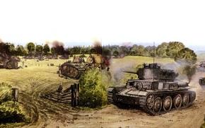 Оружие: арт, Танки, война, сражение, Флавион, Франция, 15 мая 1940г, PzKpfw 38(t)
