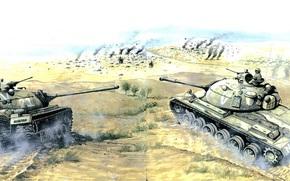 Оружие: арт, Танки, Шестидневная Война, Перевал Джеради, июнь 1967г, М48, ИС-3, Израиль