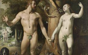 ������: ���, �������, ��������, ����, ���, ���, Cornelis van Haarlem, De zondeval
