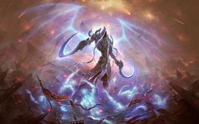 Фантастика: монстр, рыцарь, 3d, art