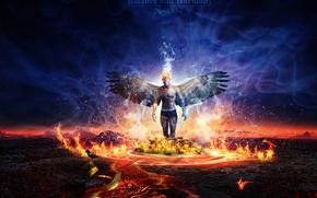 Фантастика: ангел, в огне, ворон