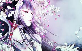 Аниме: geisha, девушка, аниме