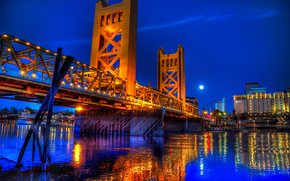 �����: Tower Bridge Evening, Sacramento, California, ��������� ���� �����, ����������, ����������
