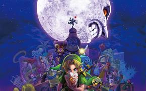 ����: legend_of_zelda, majoras_mask, girls, moon