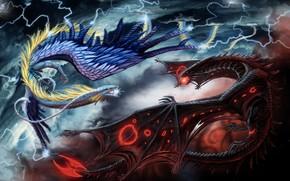 Фантастика: драконы, 3d, art