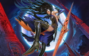����: castlevania, order_of_ecclesia, girl, style, tower, lance
