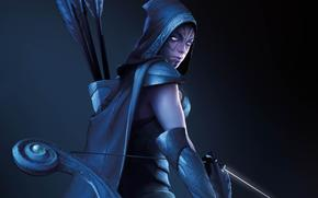 ����: dota_2, girl, archer, bow, arrows, hunter