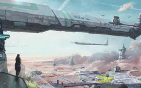 ����: STAR_CITIZEN, sci_fi_spaceship, game_city, Hi tech
