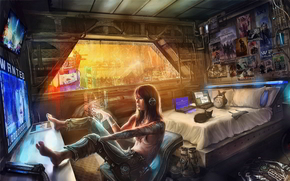 ����: STAR_CITIZEN, sci_fi_game_city, computers, cyberpunk