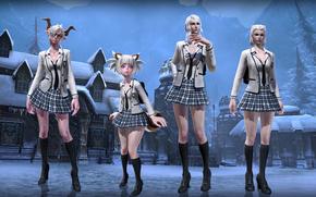 �����: Tera Fan site Online, Frost Uniform, girls, fashion, snow