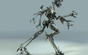 Hi-tech: робот, металл, движение