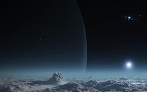 Космос: космос, небо, облака, 3d, art