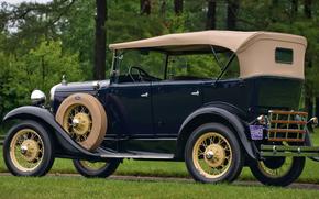 ������: classic, car, nostalgia, 1930_Ford_Model_A_4_door_Phaeton