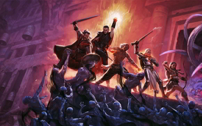 ����: pillars_of_eternity, fighting, dungeons, monsters, fire, magic