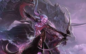 ����������: Chen Bo, beastmaster hunter, girl, bow, centaur