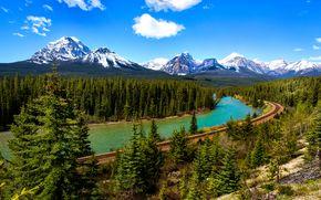 �������: Bow River, Canada, ����, ����, ��������, ������, ������