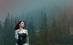 Фантастика: мистический, пейзаж, лес