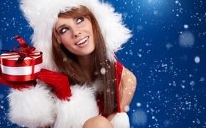 Девушки: 2015, празник, новогодняя