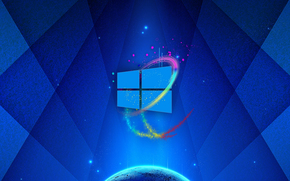 Hi-tech: wallpaper, windows, 3d
