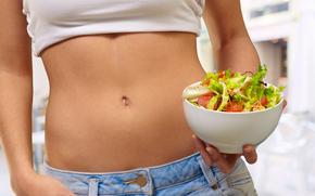 �����: girl, sport, eating, fit body