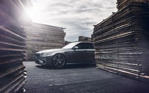 Машины: bmw, m5, f10, matte grey, бмв, серый, блик