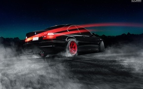 Машины: BMW, M3, E46, Drifting, Red, Wheels, Car, Road