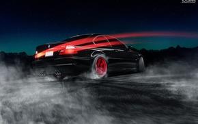 Машины: BMW, M3, E46, Drifting, Red, Wheels, Car, Road