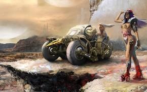 Фантастика: Sergey Musin, девушки, киборг, транспорт