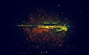 Оружие: снайперская, винтовка, оружие, CS:GO, фон