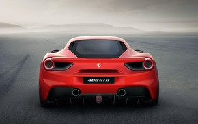 ������: Ferrari, 488gtb, red