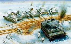 Оружие: арт, танк, Тигр, Catching the Tiger, 18 January, 1943
